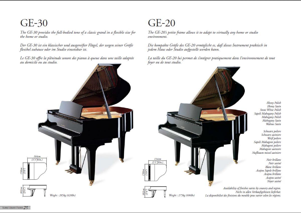Grand Piano Catgalog, Musichouse CAMERTON, KAWAI grand pianos