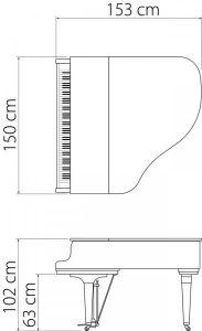 GL 10 WH/P Grand Piano